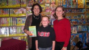 Andersons Bookshop w Susan Kochan's niece Katherine, sister Joan 9.16.11
