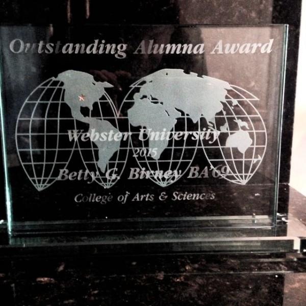 Webster Alumna Award